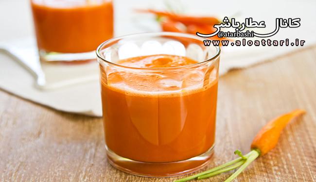 فواید آب هویج برای کاهش وزن