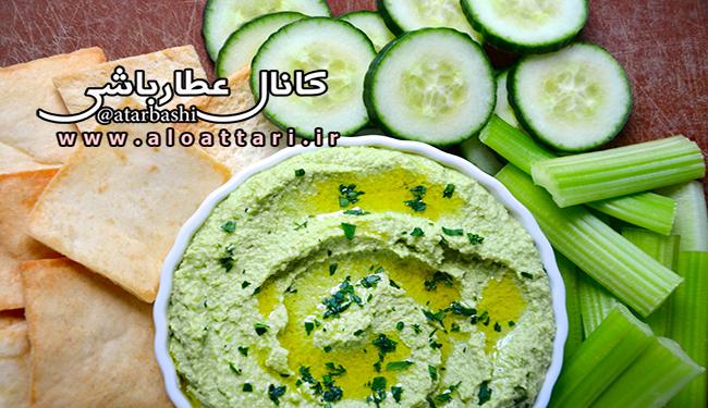 طرز تهیه هوموس نخود فرنگی و لوبیا سفید - مجله سلامتی عطارباشی