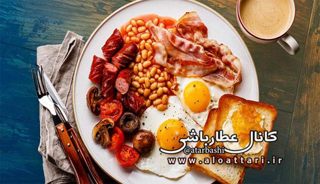 بشقاب صبحانه
