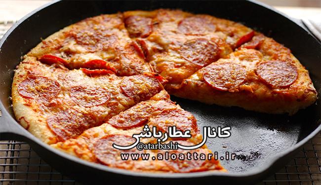 طرز تهیه پیتزای بدون فر