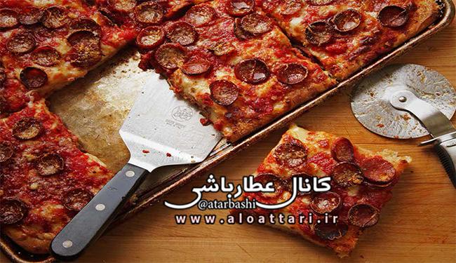 طرز تهیه پیتزا سیسیلی با پپرونی - مجله سلامتی عطارباشی