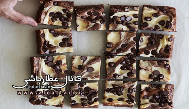 چیز کیک براونی